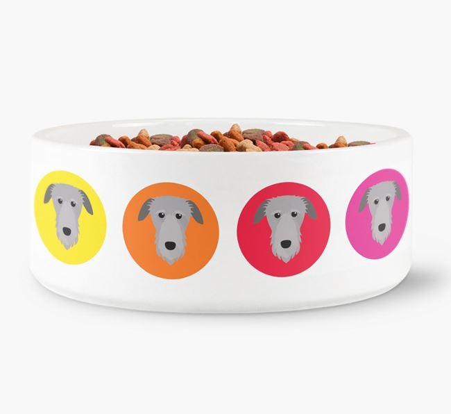 Deerhound Yappicon Dog Bowl