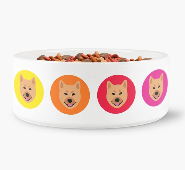 Finnish Spitz Yappicon Dog Bowl