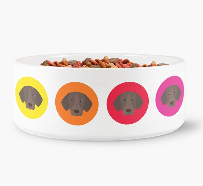 German Shorthaired Pointer Yappicon Dog Bowl