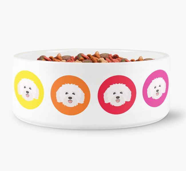 Havanese Yappicon Dog Bowl