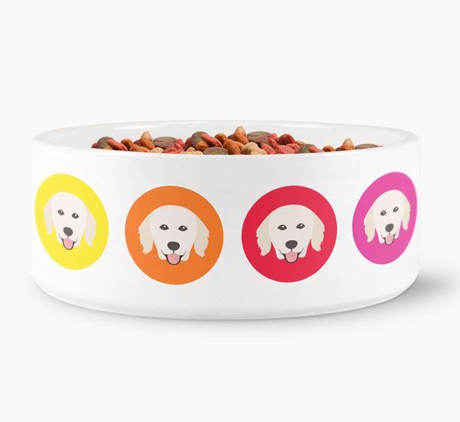 Hungarian Kuvasz Yappicon Dog Bowl