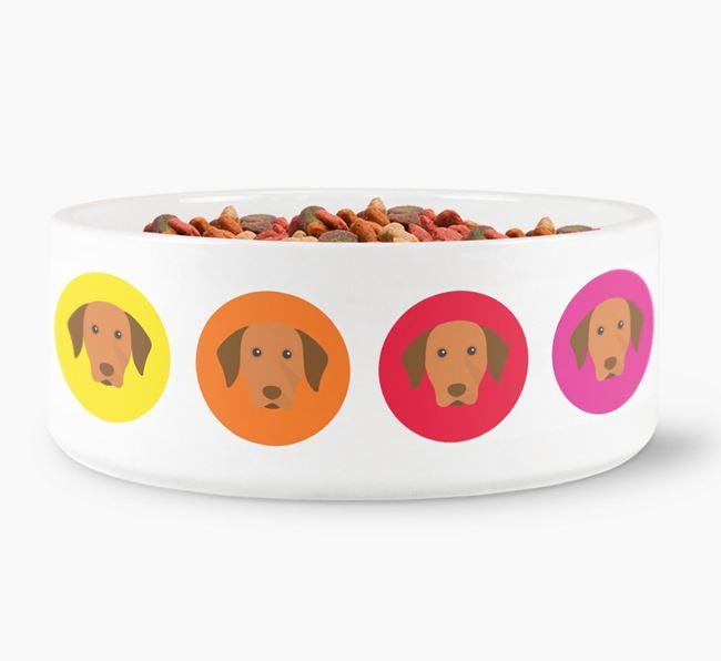 Hungarian Vizsla Yappicon Dog Bowl