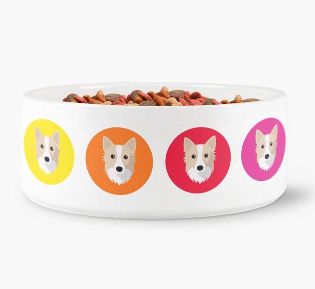 Icelandic Sheepdog Yappicon Dog Bowl