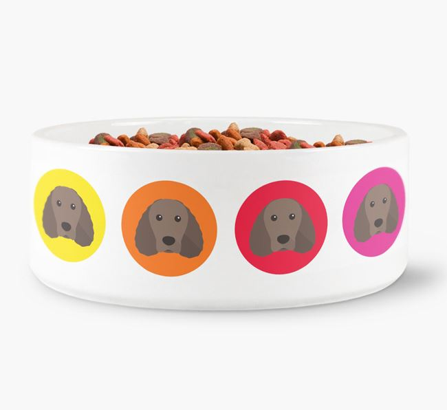 Irish Water Spaniel Yappicon Dog Bowl