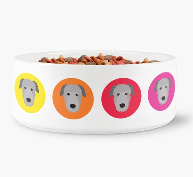 Irish Wolfhound Yappicon Dog Bowl
