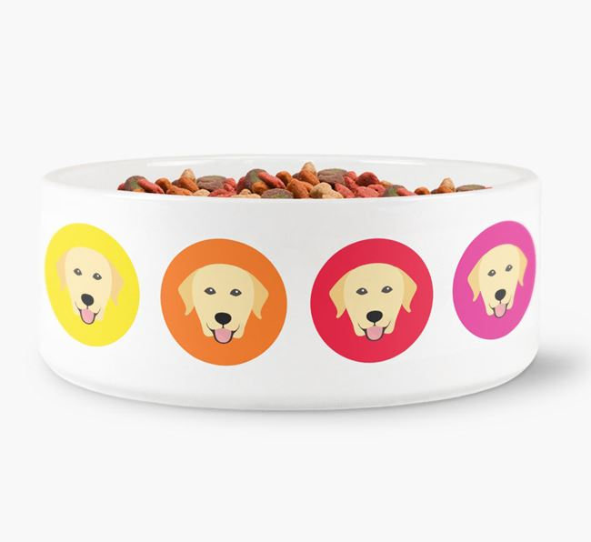 Labrador Retriever Yappicon Dog Bowl