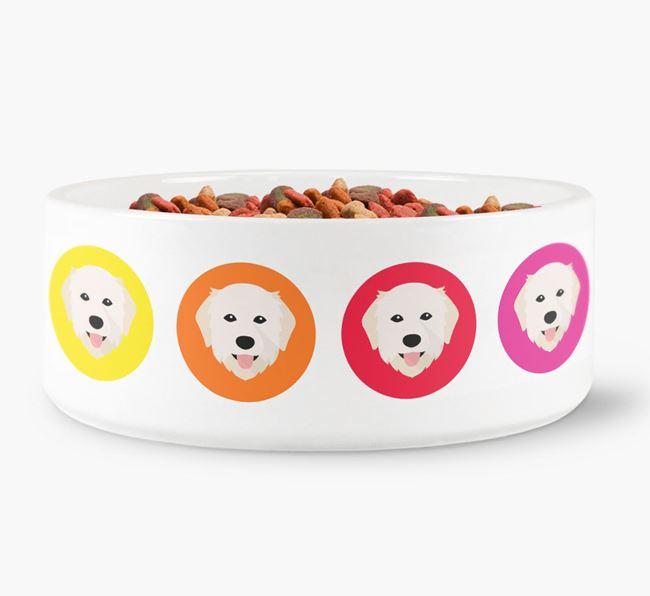 Maremma Sheepdog Yappicon Dog Bowl