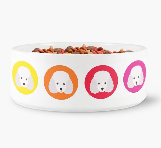 Miniature Poodle Yappicon Dog Bowl