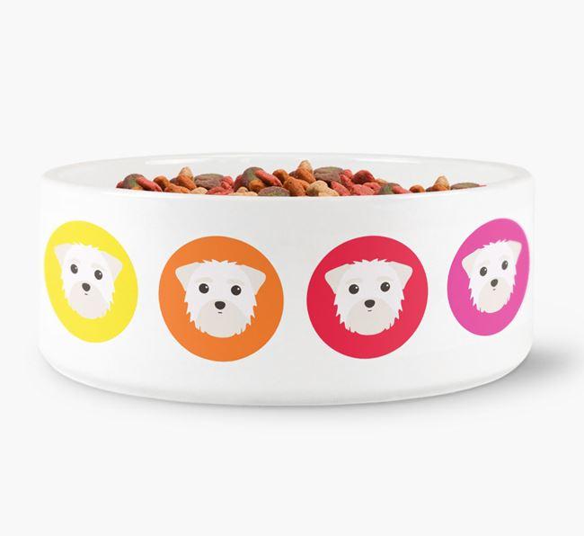 Morkie Yappicon Dog Bowl