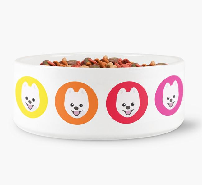 Pomsky Yappicon Dog Bowl