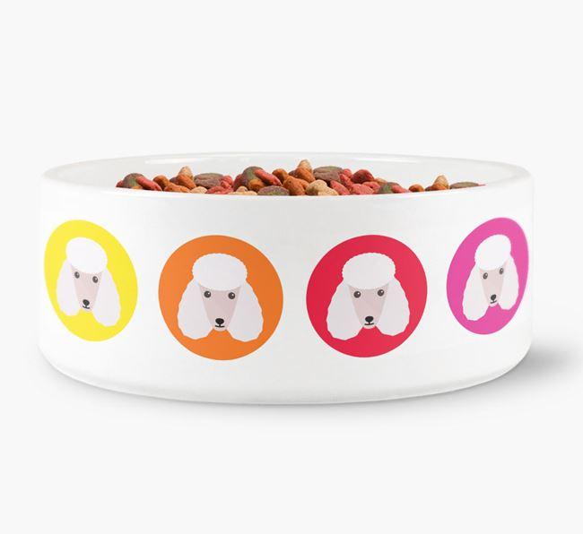 Poodle Yappicon Dog Bowl