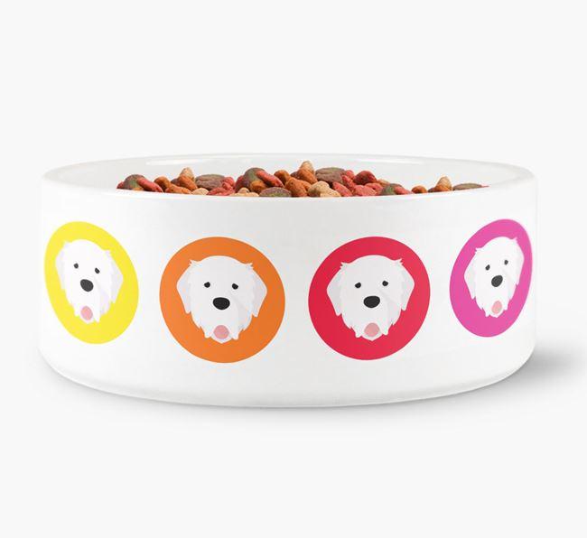 Pyrenean Mastiff Yappicon Dog Bowl