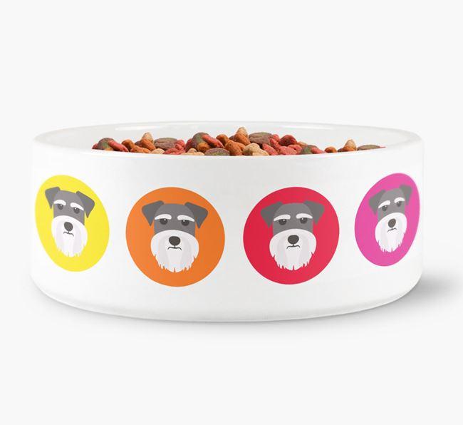 Schnauzer Yappicon Dog Bowl