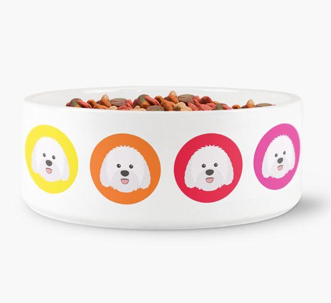 Sheepadoodle Yappicon Dog Bowl