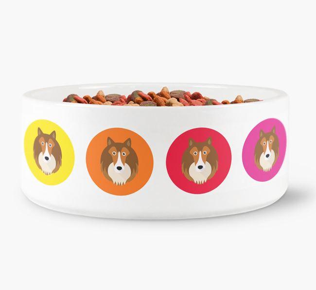 Shetland Sheepdog Yappicon Dog Bowl