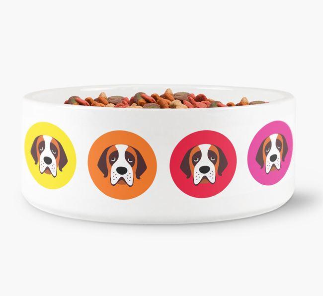 St. Bernard Yappicon Dog Bowl