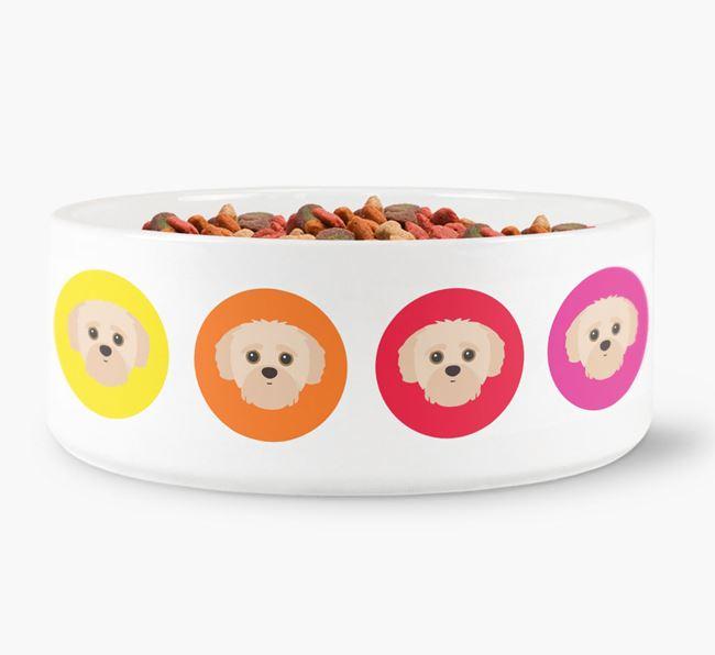 Yorkipoo Yappicon Dog Bowl