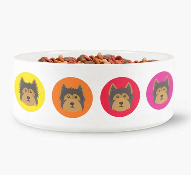 Yorkshire Terrier Yappicon Dog Bowl