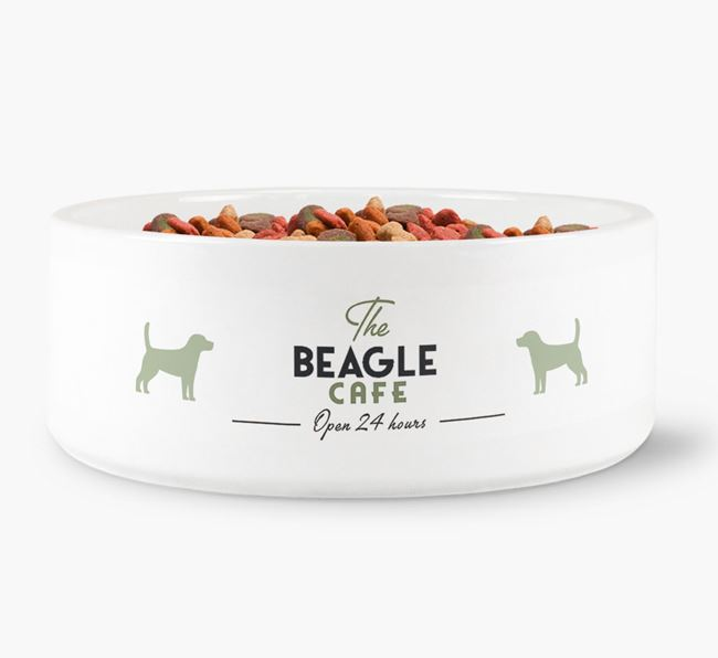 'The Beagle Cafe' - Personalised Dog Bowl for your Beagle