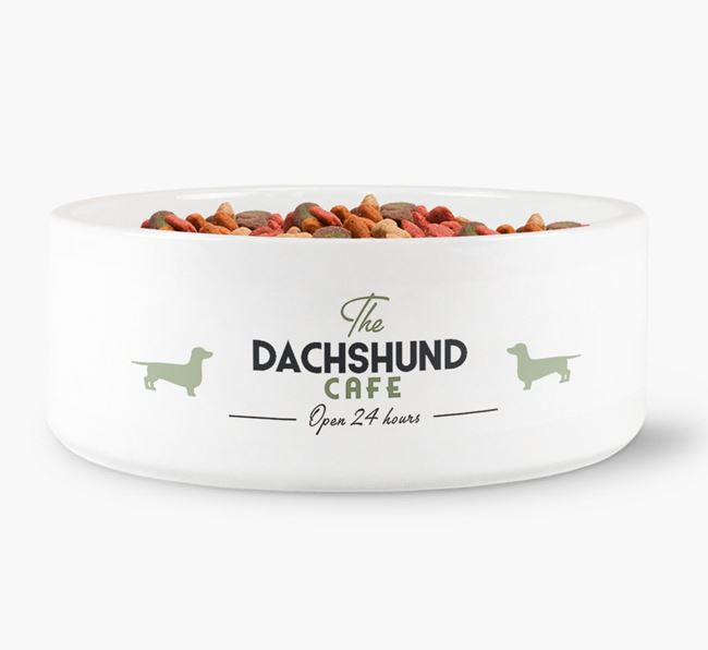 'The Dachshund Cafe' - Personalised Dog Bowl for your Dachshund