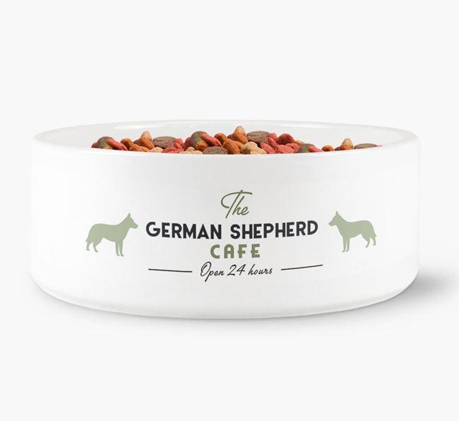 'The German Shepherd Cafe' - Personalised Dog Bowl for your German Shepherd
