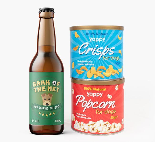 'Top Scoring' - Personalised Airedale Terrier Beer Bundle