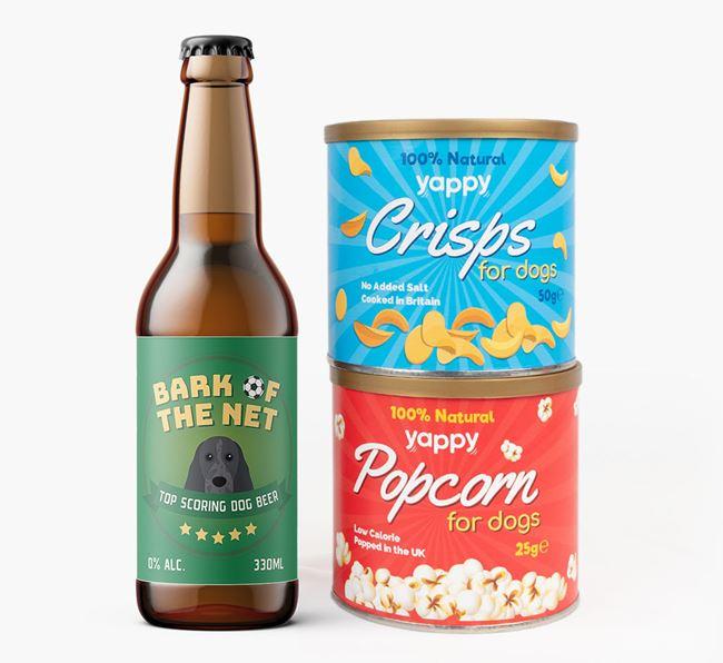 'Top Scoring' - Personalised Cocker Spaniel Beer Bundle