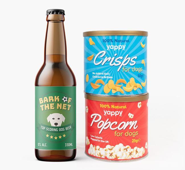 'Top Scoring' - Personalised Golden Labrador Beer Bundle
