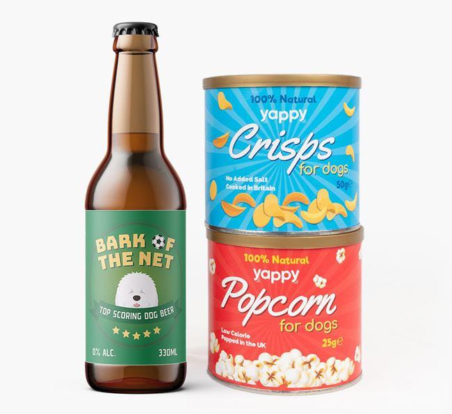 'Top Scoring' - Personalised Old English Sheepdog Beer Bundle