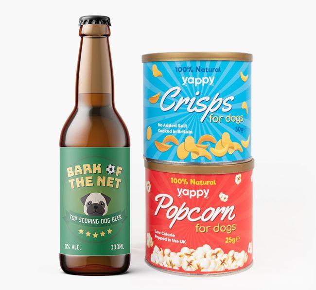 'Top Scoring' - Personalised Pug Beer Bundle