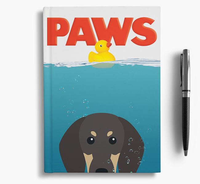 Paws - Black and Tan Coonhound Notebook/Journal