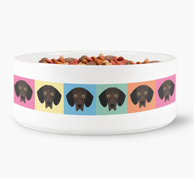 Colourful Square Icons  - Personalised Dog Bowl for your Bassador