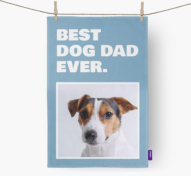 'Best Dog Dad Ever' - Personalized Jack Russell Terrier DIsh Towel
