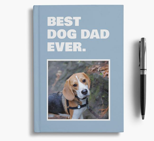 'Best Dog Dad Ever' - Personalized Beagle Notebook