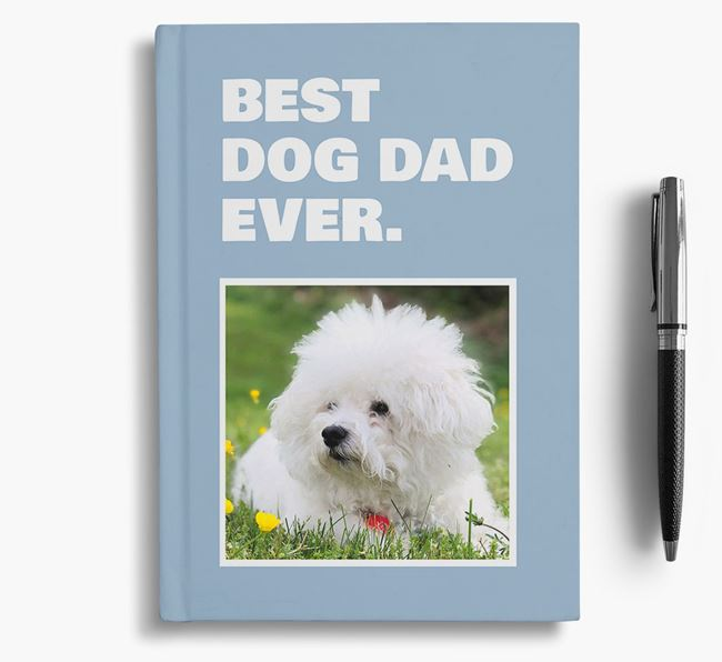 'Best Dog Dad Ever' - Personalized Bichon Frise Notebook