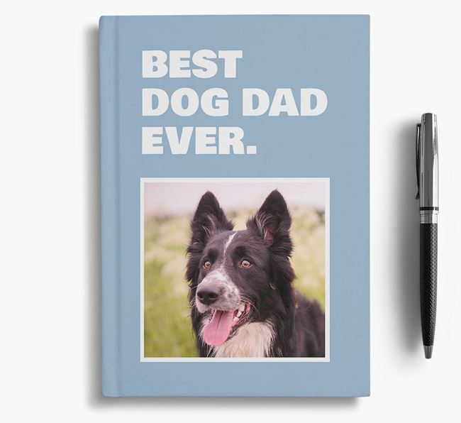 'Best Dog Dad Ever' - Personalized Border Collie Notebook