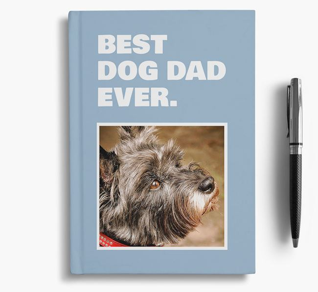 'Best Dog Dad Ever' - Personalized Cairn Terrier Notebook
