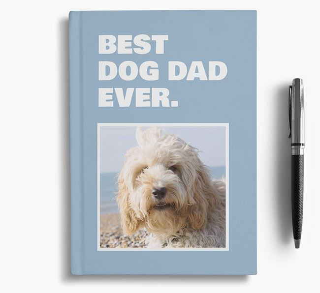 'Best Dog Dad Ever' - Personalized Cockapoo Notebook
