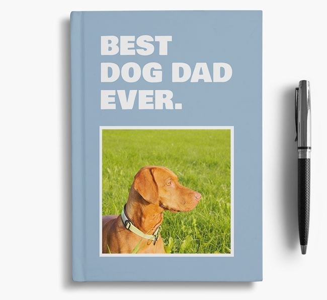 'Best Dog Dad Ever' - Personalized Dog Notebook