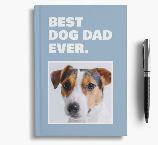 'Best Dog Dad Ever' - Personalized Jack Russell Terrier Notebook