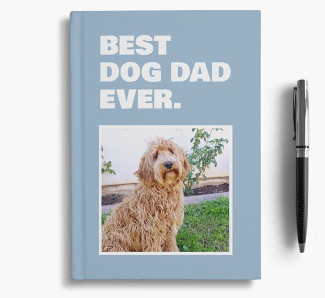 'Best Dog Dad Ever' - Personalized Labradoodle Notebook