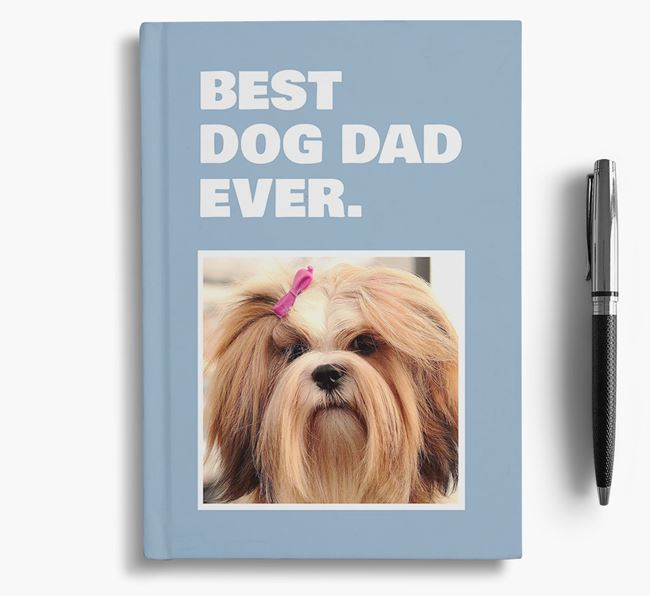 'Best Dog Dad Ever' - Personalized Lhasa Apso Notebook