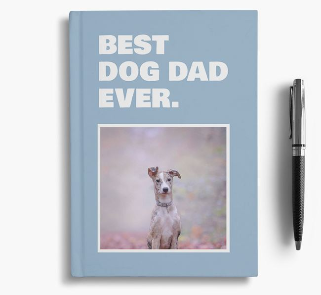 'Best Dog Dad Ever' - Personalized Lurcher Notebook