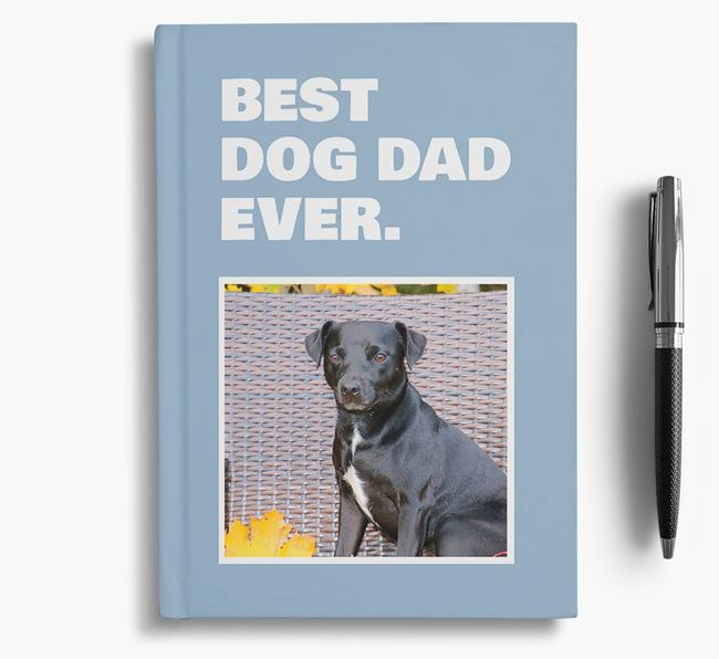 'Best Dog Dad Ever' - Personalized Patterdale Terrier Notebook