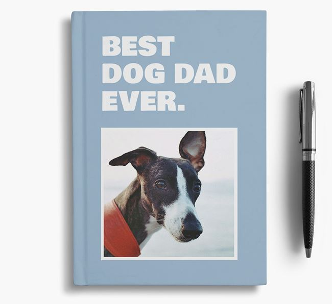 'Best Dog Dad Ever' - Personalized Whippet Notebook