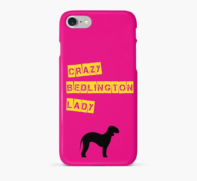 Phone Case 'Crazy Bedlington Lady