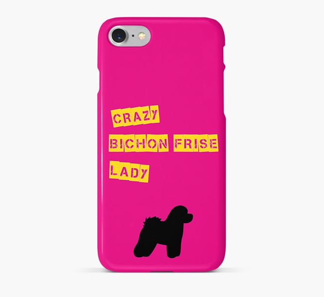 Phone Case 'Crazy Bichon Frise Lady