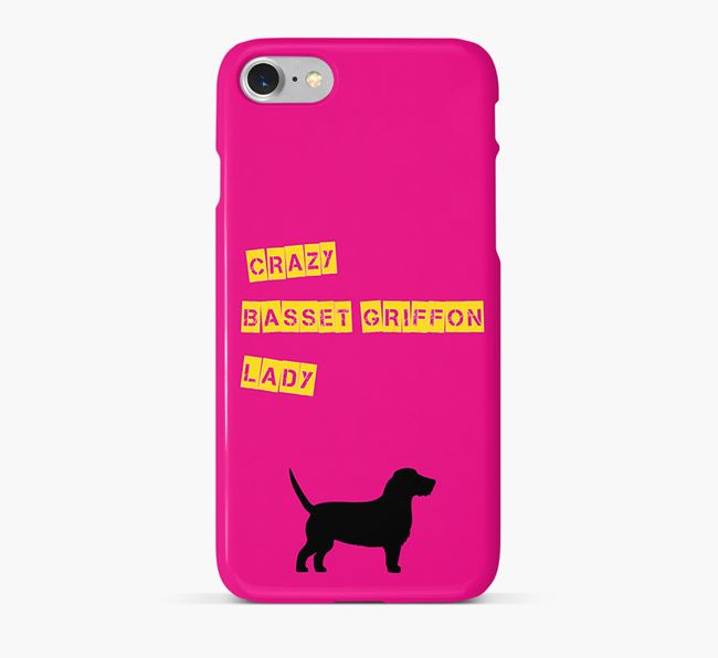 Phone Case 'Crazy Basset Griffon Lady