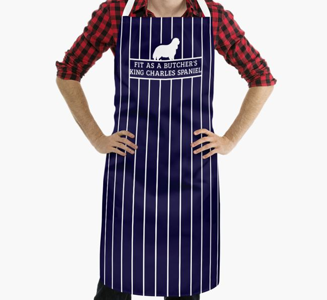 'Fit As a Butcher's...' - Personalized King Charles Spaniel Apron