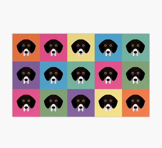 Personalied Icon Pattern- Personalised Bassador Feeding Mat